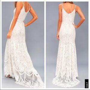 Lulu's Dresses - SOLD Lulu's White Flynn Lace Wedding Gown Size XS